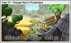 Travian Hint : Task 11 Change Hero's Production